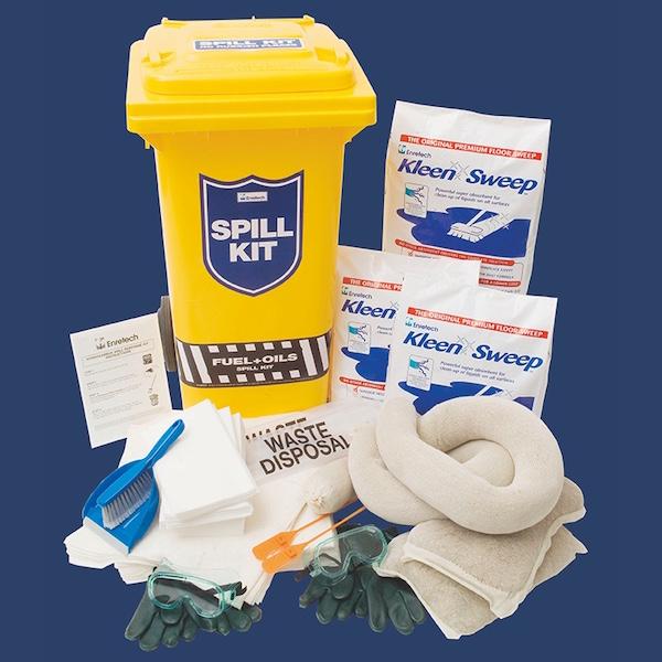 Spill kit for service station