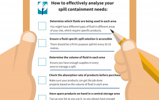 Analyse your spill containment needs